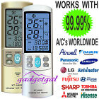 2 Pk WORLD'S BEST Universal Air Con A/C Air Conditioner Remote ALL MAJOR BRANDS