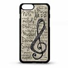 Music note musical treble clef jazz blues quote phrase pattern phone case cover
