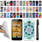 For Alcatel One Touch Fierce 7024W TPU SILICONE Soft Protective Case Cover + Pen