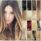 7pcs 100g thick Clip In Remy Human Hair Extensions all colors 100% real full set