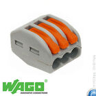 WAGO -spring lever push fit reuseable cable 3 wire connectors 32A UK