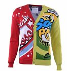 "MOSCHINO COUTURE Strickjacke mit ""Drink Moschino"" Print Mehrfarbig Cardigan 0448"