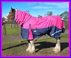 LOVE MY HORSE 1200D 7'0 - 7'3 Reflective Clydy Rainsheet Combo Rug Pink / Navy
