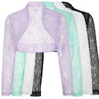 2016 LACE Wedding Bolero Shrug  Long Sleeve Jacket Cardigan Cropped Causal Tops