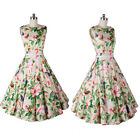 Women Summer Fashion Casual Sleeveless Floral Mini Party Cocktail Evening Dress