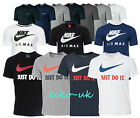 Nike Mens Crew Neck Classic Short Sleeve Gym Cotton Logo T-Shirt Size S M XL XXL