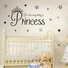Princess & Stars Its Not Easy Girls Quote Decal Bedroom Text Wall Stickers A366