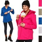 Happy Mama. Women's Maternity Nursing Hoodie Top Carrier Removable Insert. 039p