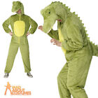 Adult Crocodile Costume Mens Womens Animal Fancy Dress Outfit New