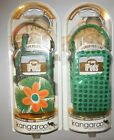 Lot of 2 Kangaroo by Hypergear Inc. Phone Pouches ipod PDA Green Cases