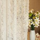 A panel Sheer Baroque Voile white Window lace Curtains rod pocket 200 240 260