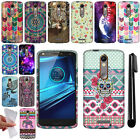 For Motorola Droid Turbo 2 Kinzie XT1585 TPU SILICONE Rubber Case Cover + Pen