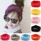 Baby Girl Toddler Sequined Bow Striped Turban Headband Hair Wrap Band 20*6cm