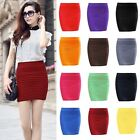 Women Fashion A Line Pure Color Stretch Mini Skirt Fitted Slim Tight Shorts