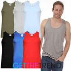 New Mens 3 Pack Fitted Vests Pure Cotton Gym Top Summer Training 100% Cotton