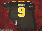 9 DREW BREES NEW ORLEANS SAINTS BLACK NFL SEWN STITCHED JERSEY CHOOSE SIZE