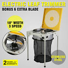 "18"" Electric Leaf Bud Trimmer Hydroponic Stainless Steel Table  Reaper Popular"