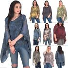 Womens Lagenlook Paisley Silk Loose Baggy Italian Tunic Top Size 10 12 14 16