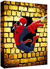SPIDERMAN Iconic Superhero Cartoon Canvas Wall Art Picture Print - A0, A1, A2