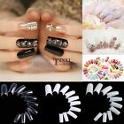 New 500PCS Half French Acrylic UV Gel Manicure False Nail Art Tips TXSU