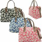 Ladies Daisy Flower Print Canvas Weekend Bag Holdall Hand Luggage Bag LN7517DS