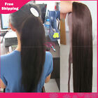High Quality Soft clip-in ponytail straight human hair extension with drawstring