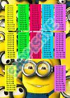 Minions Times Tables A6 to A3 Sizes Glossy or Satin Wall Art