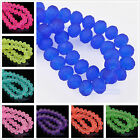Wholesale 4mm/6mm/8mm/10mm Jelly Painted Faceted Rondelle Glass Spacer Beads New