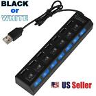 7-Port USB 2.0 Hub +High Speed Adapter ON/OFF Switch for Laptop/PC in Retail Box