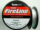 Thread Fireline Beading 2lb 4lb 6lb 8lb 10lb 14lb Crystal or Smoke 50yds