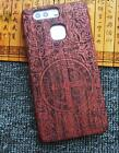 """Retro Natural Wood Carved  Wooden  Case Cover Protector For 5.2"""" Huawei P9 Phone"""