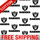 "Oakland Raiders NFL Cotton Fabric - 60"" Wide - Style# 6029 - Free Shipping!! $15.95 USD on eBay"