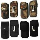 Rugged Camouflage/Black Case Pouch Cover w/Clip Holster For Samsung Galaxy S7 S6