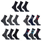 12 Pairs Mens Socks Cotton Rich Assorted Designs Multipack Size 6-11 UK