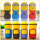250ml Minions Office Glass Watter Bottles Child Lovely Thermos Mug Vacuum Cup