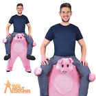 Adult Piggyback Pig Costume Unisex Funny Animal Stag Fancy Dress Outfit New