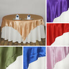 "3 Dozen SATIN SQUARE 90x90"" 36 TABLE OVERLAYS Wedding Party Catering Decorations"