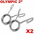 """2 X Olympic 2"""" Spring Collar Weight Gym Bars Clips Dumbbell Barbell Clamp Bar"""