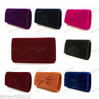 Oversized BLUE BURGUNDY BLACK PINK PURPLE ORANGE Velvet Bow Clutch Bag 911