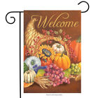 Cornucopia Autumn Garden Flag Horn of Plenty Thanksgiving