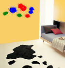 Removable Paint Splats Splatter Boys Girls Kids Room Decor Vinyl Decal Sticker