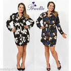 PRASLIN YOURS PLUS SIZE STUNNING FLORAL SHIRT DRESS NEW SIZE 16-26 *SALE*