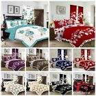 LUXURY 3PCS FRILLED DUVET SET WITH PILLOW CASES QUILT COVER BEDDING SET ALL SIZE