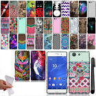 For Sony Xperia Z3 Compact Cute Design SILICONE Rubber Case Phone Cover + Pen
