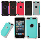 For Apple iPod Touch 6 6th 5 5th Gen HYBRID Silicone Bumper Case Cover + Pen