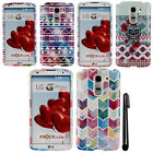 For LG G Pro 2 D837 Stars Aztec Chevron PATTERN HARD Case Phone Cover + Pen