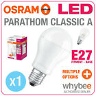 NEW! OSRAM LED BULBS PARATHOM CLASSIC A BULB SHAPE ES E27 EDISON SCREW 27mm BASE