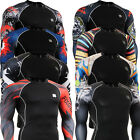 FIXGEAR mens women skin compression shirts baselayer tight mma running top S~4XL