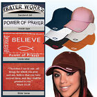 Rockpoint Power of Prayer hat Fish Bible Verse 6 colors adjustable cap colors