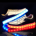 Women Men LED Light Luminous Sneakers loafer Hip-hop Casual Shoes Silver Gold